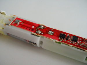 Vitality positive terminal resoldered