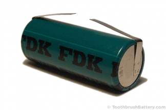 FDK offset tag toothbrush battery 42 x 17mm