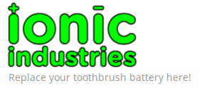 Ionic Industries Toothbrush Battery Logo